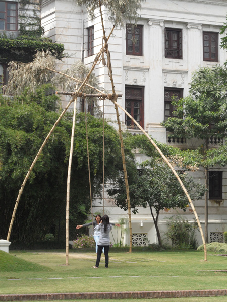 Swing for Dashain at Garden of Dreams